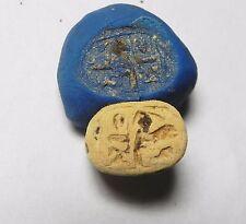 ZURQIEH -AF919- ANCIENT EGYPT , NEW KINGDOM STEATITE SCARAB. 1400 B.C
