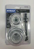 Kobalt 7-Piece Bi-Metal Hole Saw Set - For Wood, Plastic, Metal - NEW, UNOPENED