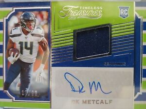 2019 Dk Metcalf Seahawks Panini Timeless Treasures RPA Autographed Patch Auto/99