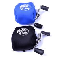 GI- HN- DV_ Elastic Fishing Reel Protective Case Cover Pouch Nylon Storage Bag U