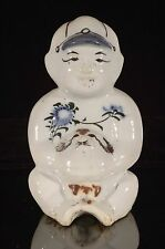 Antique / Vintage Chinese Multicolored Hand Painted Porcelain Statue Figure