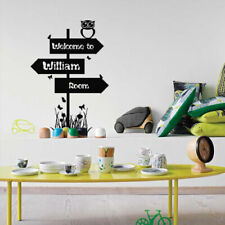 Wall Decal Welcome Inscription Title Name Custom Personalized Track Car M1426