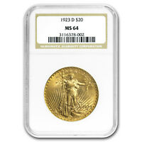 1923-D $20 Saint-Gaudens Gold Double Eagle MS-64 NGC - SKU #97110