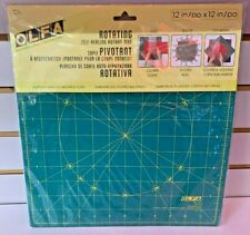 OLFA Rotating Self-Healing Rotary Mat RM-12S 1066792 & Omnigrid Square Ruler Val