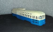 Bowser HO scale PCC Car Shell old style screw type factory painted Blue & Creme.