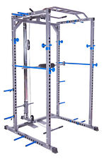 Power Rack Squat Cage Machine Cable Pulley Pull Up Bar Band Pegs Garage Presale