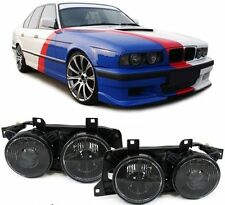 2 FEUX PHARE AVANT NOIR LOOK M5 BMW SERIE 5 E34 ET SERIE 7 E32