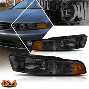 For 99-03 Mitsubishi Galant Direct Replacement Headlight/Lamp Amber Side Smoked