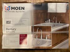 MOEN Banbury Deck-Mount High Arc Roman Tub Faucet Valve Included Satin Nickel