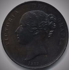 More details for 1853 victoria copper penny   pennies2pounds