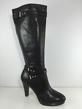 Cole Haan Womens Black Leather Knee Boots 11 B
