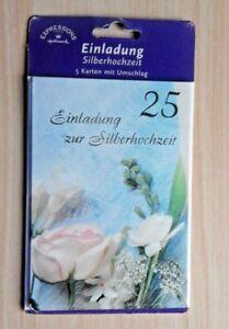 Einladungskarten zur silbernen Hochzeit  Einladungen mit Text Silberhochzeit