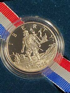 1992-S USA CHRISTOPHER COLUMBUS COMMEMORATIVE PROOF HALF DOLLAR