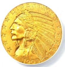 1909-O Indian Gold Half Eagle $5 New Orleans Coin - Certified ANACS AU58 Details
