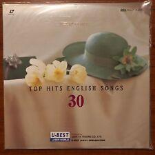 TOP HITS ENGLISH SONGS 30 U-BEST Karaoke Laserdisc LD [JLD-103]