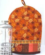 Personal size coffee press cozy handmade quilted dome 00006000  shape double insulated