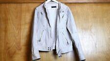 Authentic Vintage Steven Alan Ash Gray Genuine Leather Jacket Motorcycle Unisex