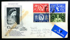 GB 1953 Coronation (4) on Souvenir Airmail FDC with Windsor CDS NEW PRICE XY232