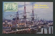 USA MK 1959 SCHIFFE OLD IRONSIDES CONSTITUTION SHIPS MAXIMUM CARD MC CM d6379