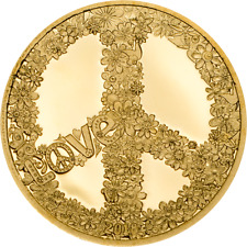 Republic of Palau 2018 1$ Love and Peace 0.5g Gold .9999 Proof Coin