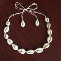 BOHO Beach Bohemian Sea Shell Pendant Chain Choker Necklace Fashion Jewelry Y1