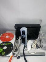 Nintendo Wii Video Game System Console Bundle RVL-001 Black 2 Games