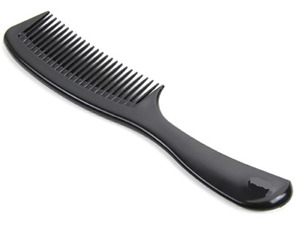 2x Premium ( Handle Styling Comb ) Black Barber Style Stylist Salon