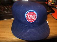 Orig Late 80's/Early 90's DETROIT PISTONS Old Logo 7 1/4 Hat New Era Dead Stock
