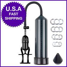 "Advanced Male Penis Enlarger Vacuum Power Pump w/ FREE Guider +4 Rings 9"" ED AID"