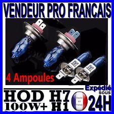 LOT 4 AMPOULE PLASMA HOD H1 H7 100W LAMPE HALOGENE EFFET XENON GAZ BLANCHE 6000K