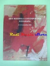 book libro ARTE MODERNA E CONTEMPORANEA FOTOGRAFIA 2122 NOVEMBRE 2003 (L27)