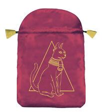 EGYPTIAN CAT POUCH Cat Cats Satin Drawstring Bag for Tarot Cards Card Deck