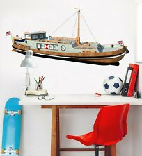 3D British Ship O91 Car Wallpaper Mural Poster Transport Wall Stickers Amy