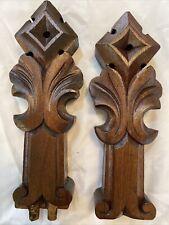 Vintage Hand Carved Matching pair original salvage Victorian posts/ finials
