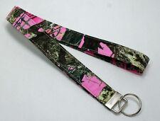 Pink Camo Camouflage True Timber MC2 Lanyard Key Ring Handmade Custom Designer