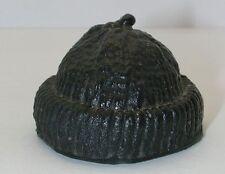 Vintage GI Joe Black Beanie Plastic Wool Cap