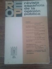 REOP. REVISTA ESPAÑOLA DE LA OPINIÓN PÚBLICA nº 1 (Mayo - Agosto, 1965)