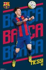 LIONEL MESSI - 2017 BARCELONA POSTER - 22x34 SOCCER FOOTBALL 15077