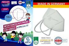 ≫ 10 x KINDER MUNDSCHUTZMASKE   Mund Schutz Maske weiß DE. W42-XS
