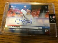 2019 Topps NOW Jordan Yamamoto Miami Marlins #396A Call-Up Autograph RC #89/99