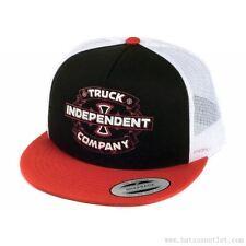 """Indipendenti, """"garage"""" Camionista Rete Cappello Skateboard Nero Rosso Bianco Taglia Unica Cappello INDY"""