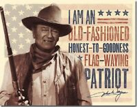 John Wayne Patriot American Legend Western Cowboy Hollywood Decor Metal Tin Sign