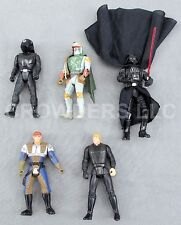 5 Star Wars 3-1/2 In Action Figures Vader Luke Dash Rendar Boba Fett & Gunner