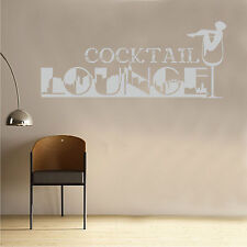Wall Sticker Quote Cocktail Lounge Art Home Sayings PopularQU167