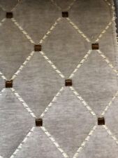 Quilted Velvet Furniture Upholstery Fabric Powder Gray Matelasse Rusty IL10