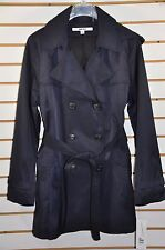 Women's DKNY Double Breasted Trench Coat W/Detachable Hood. Sz.PXL(Petite) $200