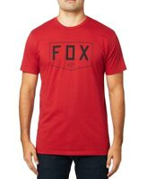 Fox Mens T-Shirt Red Size 2XL Shield Logo Short Sleeve Graphic Tee Crewneck 008