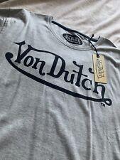 Von Dutch T Shirt - Mens - XL - Slim Fit - Grey - BNWT