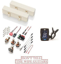 EMG MJ IVORY Active 4 String Replaces Fender Mexico Jazz Bass Pickups ( TUNER )