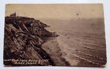 circa 1908 BLOCK ISLAND, RI, SOUTH EAST LIGHT HOUSE LIGHTHOUSE VIEW POSTCARD
